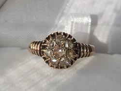 Antik arany gyűrű/gyémánt