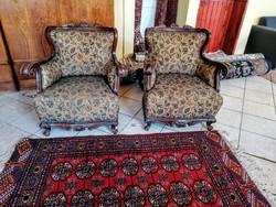 Antik fotel párban