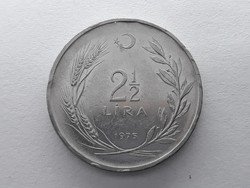 Törökország 2 1/2 Líra 1975 - Török két és fél lira 1975 külföldi pénz, érme