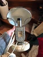 MOFÉM asztali lámpa órával, igazi retró, 30-as évekből. 30 cm magas