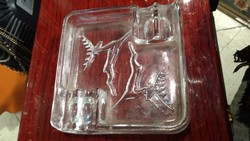 Üveg hamutartó, 11 x 11 cm-es nagyságú, lakberendezéshez.