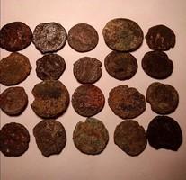 20 darab római bronz lot