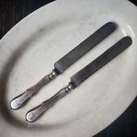 Art Krupp Berndorf ezüstözött, monogramos kés