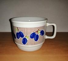 Zsolnay porcelán szilvás bögre (9/d)