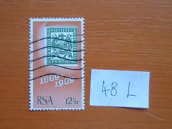 DÉL-AFRIKA 12-1/2 C1969 A Dél-afrikai Köztársaság (Transvaal) első bélyegének 100. évfordulója 48L