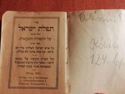Régi judaika imakönyv, 1913 wien