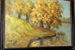 Antik szignált festmény 429