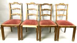 4 db art deco szék garnitúra