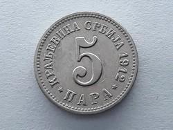 Szerbia 5 Para 1912 - Szerb 5 para 1912 külföldi érme