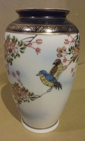Japán virágos-madaras kis  váza