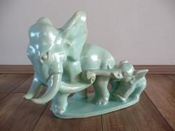 Komlós kerámia elefánt