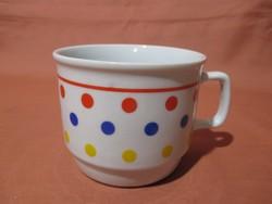Zsolnay bögre színes pöttyökkel, csésze