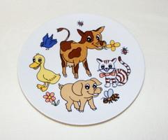 Kahla állatos tányér