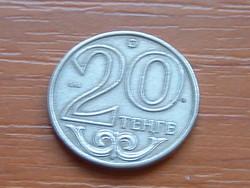 KAZAHSZTÁN 20 TENGE 2000  verdejel) ҚҰБ 75% réz, 25% nikkel
