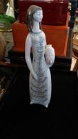 Hollóházi porcelán nő szobor, 27 cm-es, hibátlan állapotban.