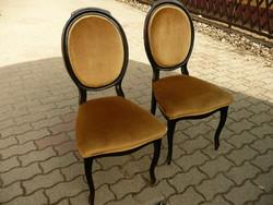 Eredeti antik, nem replika, tükrös biedermeier szék pár újra kárpítozva, stabil állapotban