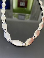 Ragyogó letisztult formájú ezüst nyaklánc-nyakékék