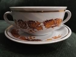 Zsolnay leveses csésze szett