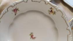 Zsolnay tollazott barokk süteményes tányér