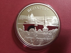 Budapest Világörökségi helyszínek 5000 ft ezüst érme certivel 2009 PP