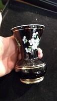 Üveg váza, 12 cm magas, hibátlan állapotban.ritkaság