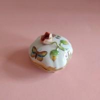 Herendi Viktória mintás porcelán bonbonier