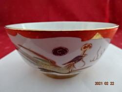 Kínai porcelán, sárkány mintás rizses tál, átmérője 11,5 cm.