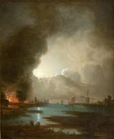 ANTIK festmény, olaj karton, 35 x 29 cm