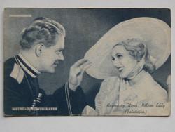 HAJMÁSSY ILONA, NELSON EDDY (METRO-GOLDWYN M. FOTÓ 1920 KÖRÜL, POST CARD, KÉPESLAP (9X14 CM) EREDETI