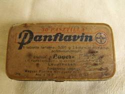 Antik Bayer gyógyszeres tégely gyógyszeres fémdoboz patikai pasztillás doboz