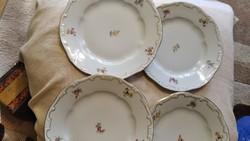 Zsolnay tollazott barokk süteményes tányér 4 darab