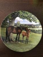 Spode angol porcelán lovas tányér limitált
