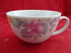 Alföldi porcelán, virágmintás teáscsésze, átmérője 10 cm.