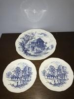 Francia Gien kék mintás kínáló tányér + 2 db sütis tál