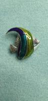 Mesés rubin - markazit drágaköves   sterling ezüst /925/ medál/ bross- új