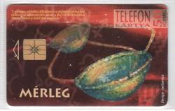 Magyar telefonkártya 0480  1995 Mérleg    GEM 1  Nincs Moreno  136.000 darab