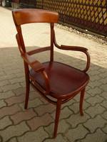 Eredeti jelzett antik karfás szecessziós Thonet íróasztal szék teljesen stabil állapotban