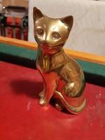Pazar régi réz macska szobor