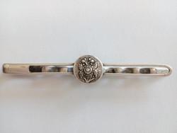 Antik ezüst nyakkendő csipesz, nyakkendő tű vagy hajcsat