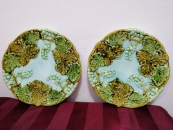 Körmöcbányai tányér párban, különleges - ritka jelzéssel
