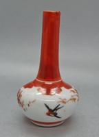 B127 Ritka japán porcelán váza - Gyűjtői ritkaság - hibátlan szép állapotban