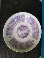 Zsolnay. Porcelán fali tányér