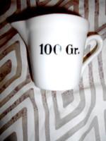 Mérőedény 100 Gr. patikai edény.