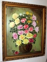 Antik szignált festmény 437