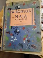 100 éves mesekönyv kifogástalan állapotban! Bonsels: Maja kalandjai 1920