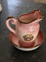 Angol porcelán mini porcelán mosdó szett