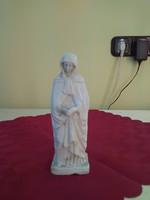 Antik biszqvit porcelán Mária szobor.