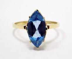 Kék köves arany gyűrű (ZAL-Au95091)