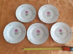 0S708 Régi Herendi tertia porcelán tányér 20 cm 5db