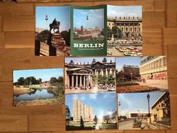 Nagyméretű régi BERLIN képeslap tömb - 5 db -os